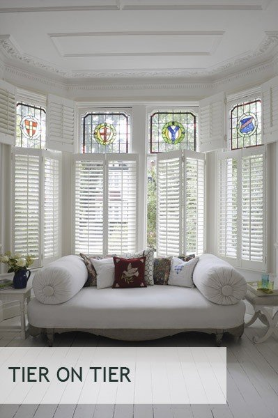 These Are A Stylish Double Layer Window Treatment, With A Top Half And A  Lower Half. Benefits Of Using Tier On Tier Products Include Having Greater  Control ...